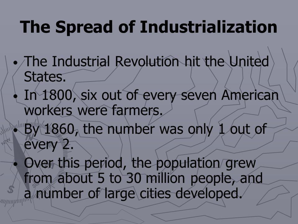 The Spread of Industrialization Britain became the world's greatest industrial nation. It produced one-half of the world's cotton goods and coal. The