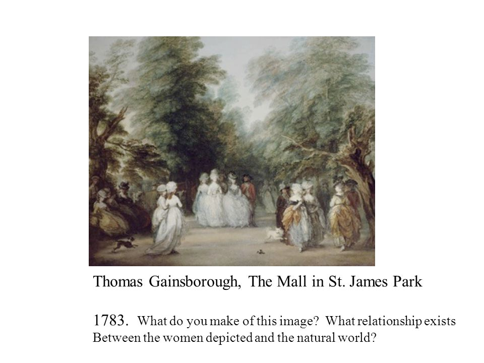 Thomas Gainsborough, The Mall in St. James Park 1783.