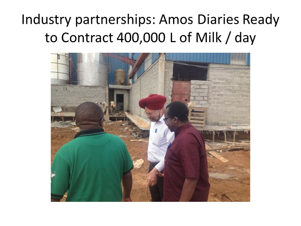 Industry partnerships: Amos Diaries Ready to Contract 400,000 L of Milk / day