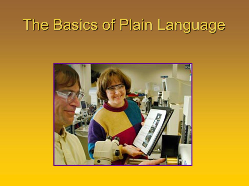 The Basics of Plain Language
