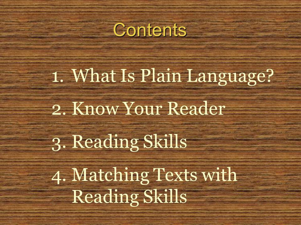 1.What Is Plain Language.