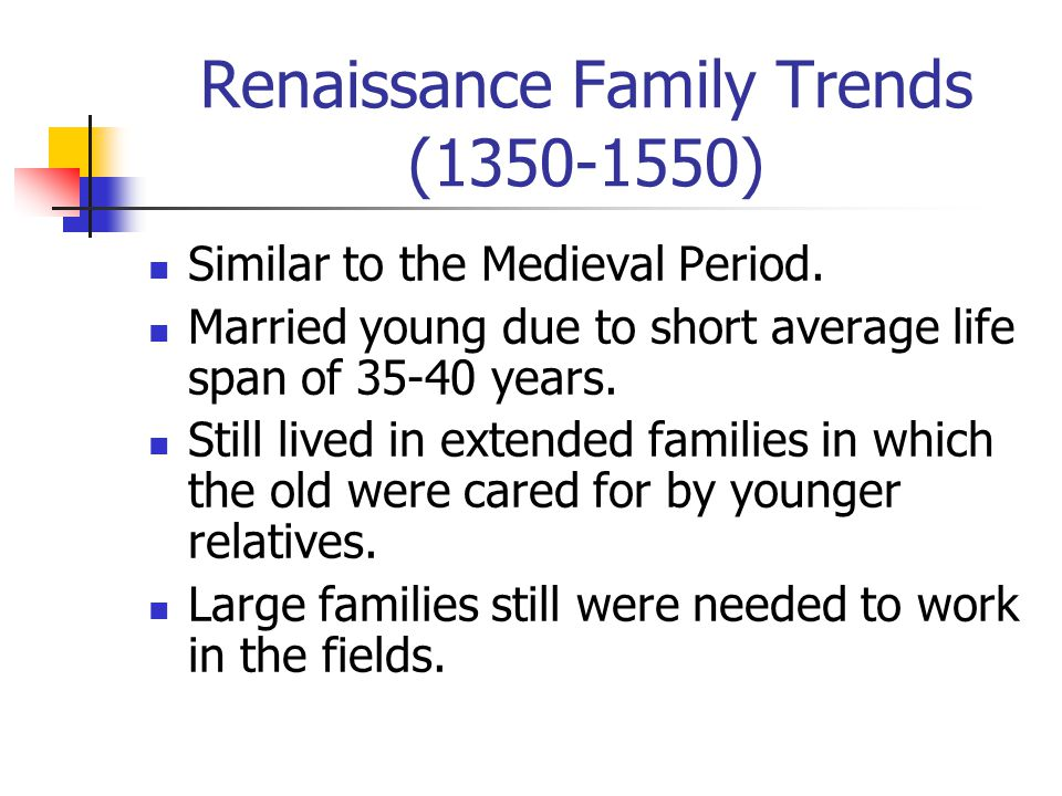 Renaissance Population Trends Population growth was still small due to a high birth rate and a high death rate.