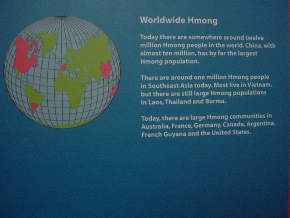Hmong people living in the United States live in houses like ours.