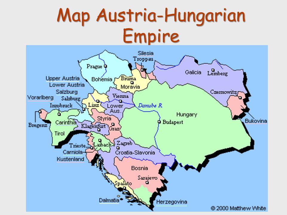 Map Austria-Hungarian Empire