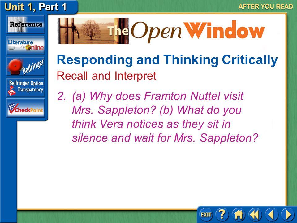 the open window story