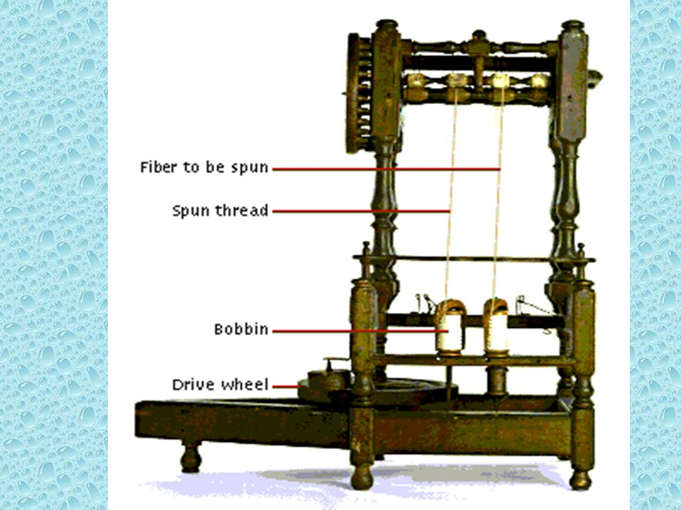 Introduced by Richard Arkwright in 1769, the flyer spinning frame (also called the throstle or roll-drawing machine) reflects the move toward automati