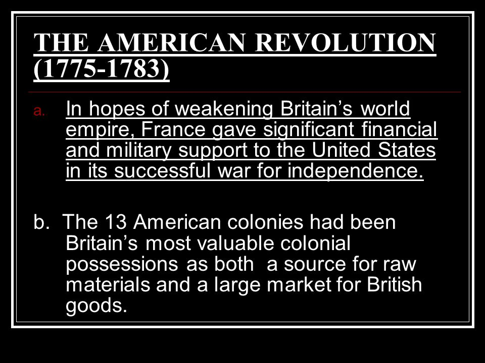 Britain thus became the world's dominant colonial empire