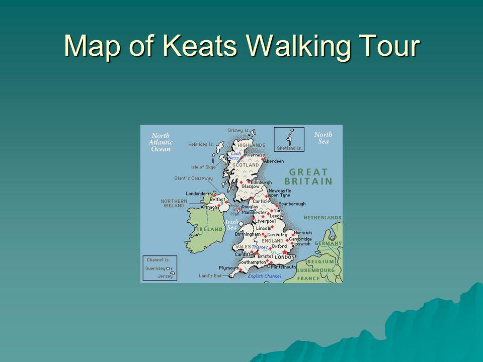 Map of Keats Walking Tour