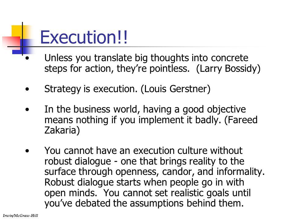 Irwin/McGraw-Hill Execution!.