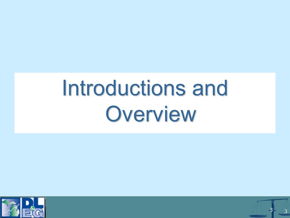 3 3 Introductions and Overview