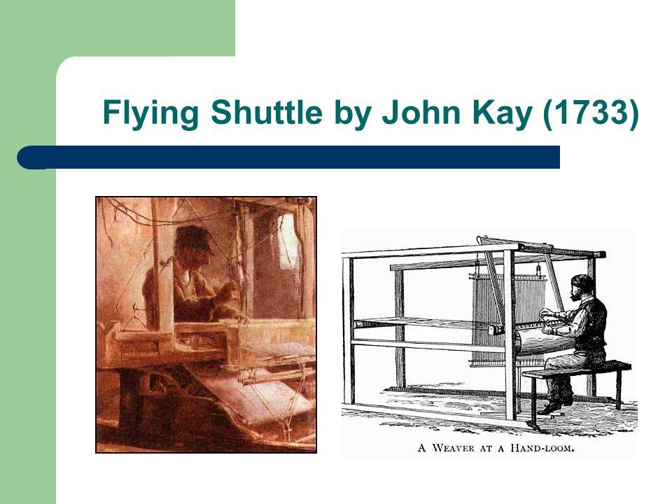 Flying Shuttle by John Kay (1733)