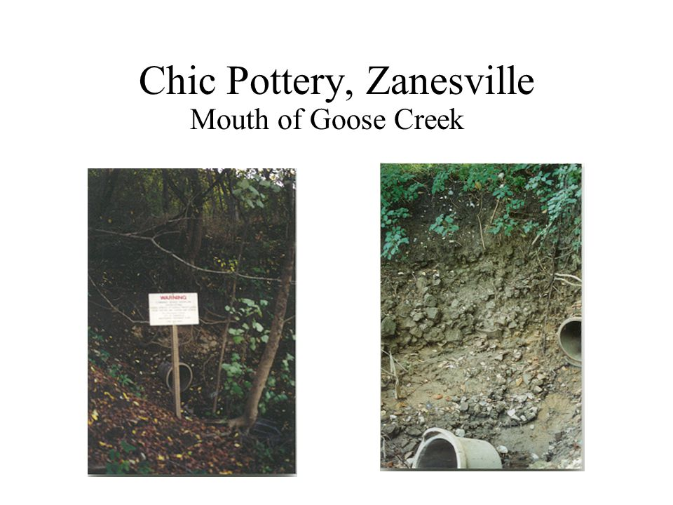 Chic Pottery, Zanesville Mouth of Goose Creek
