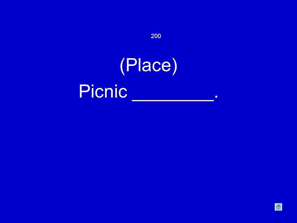 (Place) Picnic ________. 200