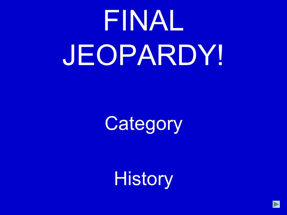 FINAL JEOPARDY! Category History