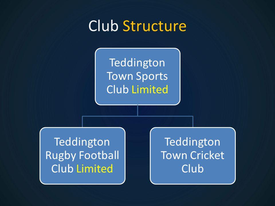 Club Structure Teddington Town Sports Club Limited Teddington Rugby Football Club Limited Teddington Town Cricket Club