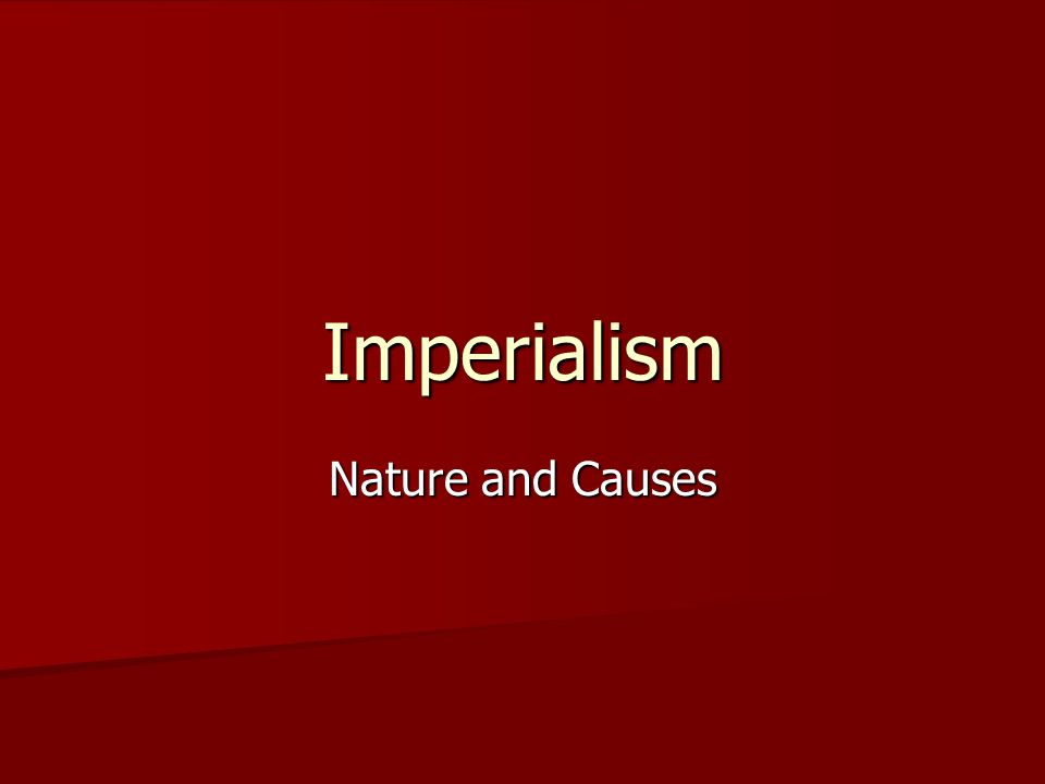 Forms of Imperialism Peoples of European descent, including Russians and North Americans, created colonial settlements, or neo-Europes, displacing or assimilating indigenous peoples.