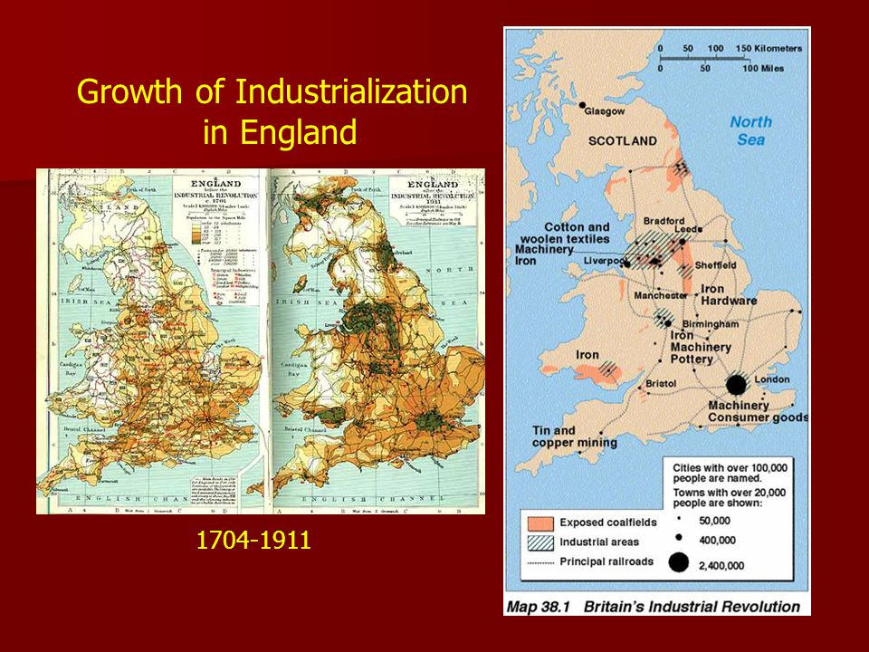 1704-1911 Growth of Industrialization in England