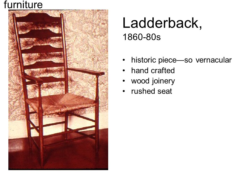 Ladderback, 1860-80s historic piece—so vernacular hand crafted wood joinery rushed seat furniture