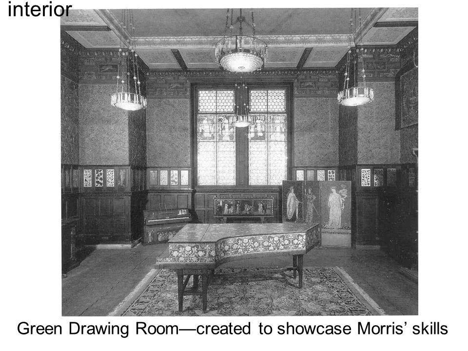 Green Drawing Room—created to showcase Morris' skills interior
