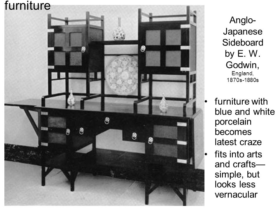 Anglo- Japanese Sideboard by E. W.