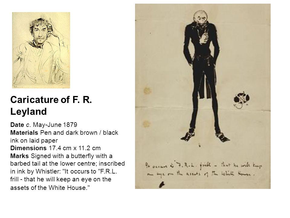 Caricature of F. R. Leyland Date c.