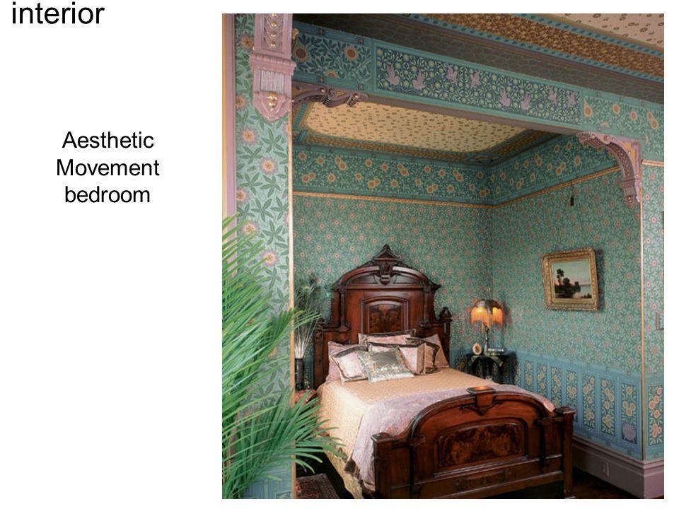 William Morris Furniture, 1860s-1880s Weaving Chair interior Aesthetic Movement bedroom