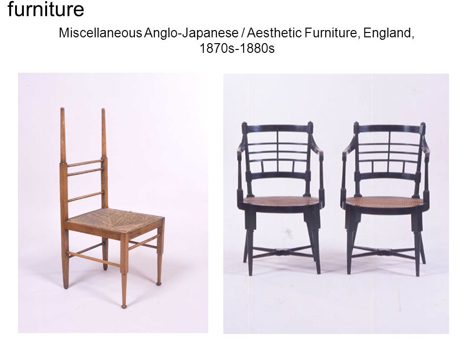 Miscellaneous Anglo-Japanese / Aesthetic Furniture by E. W. Godwin, England, 1870s-1880s Miscellaneous Anglo-Japanese / Aesthetic Furniture, England,