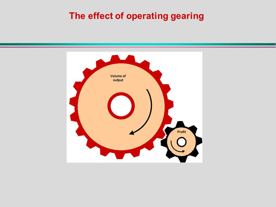 The effect of operating gearing