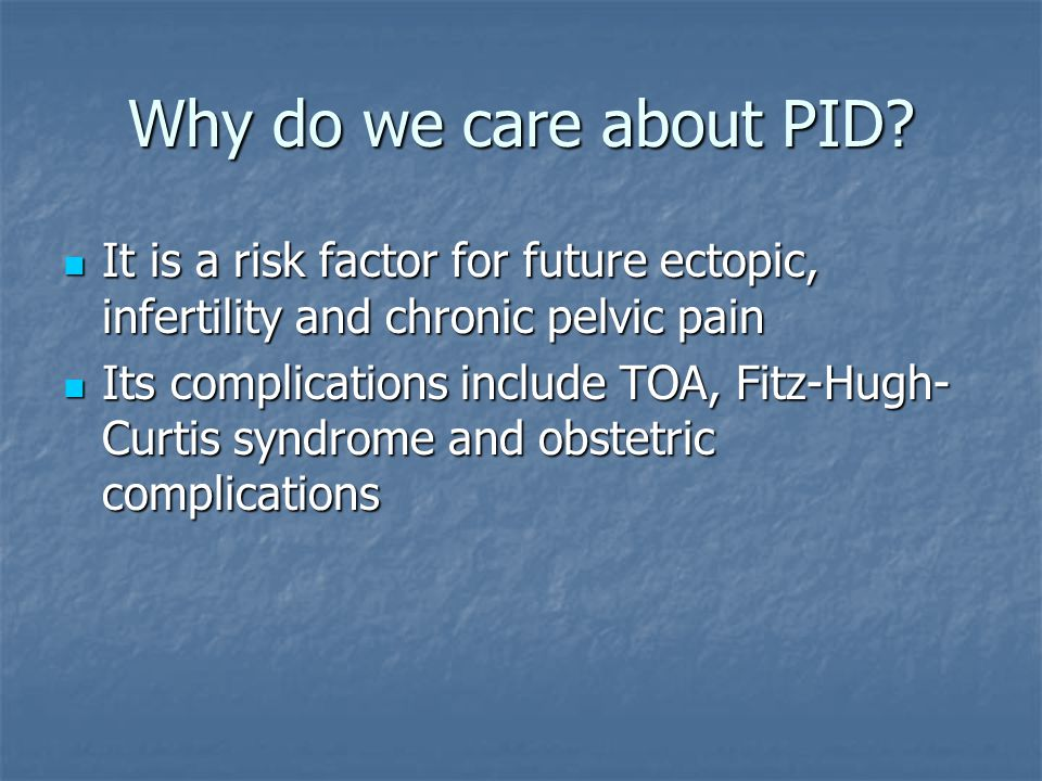 Why do we care about PID.