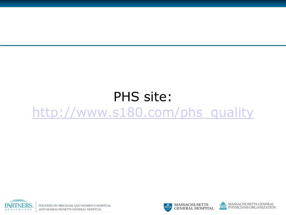PHS site: http://www.s180.com/phs_quality http://www.s180.com/phs_quality