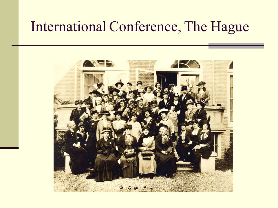 International Conference, The Hague
