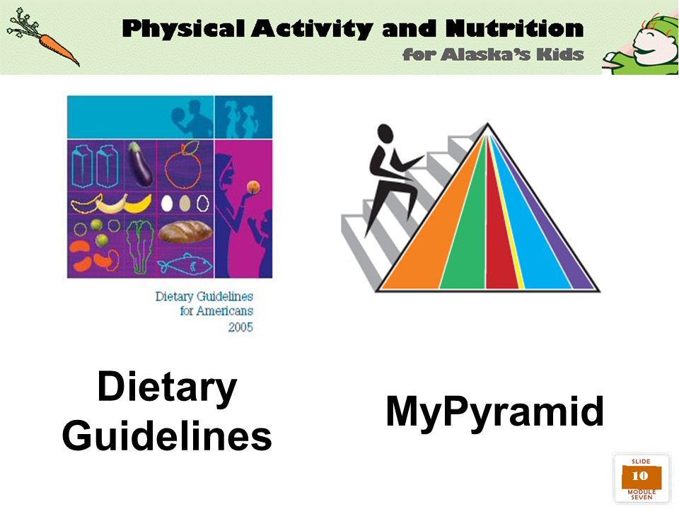 10 Dietary Guidelines MyPyramid