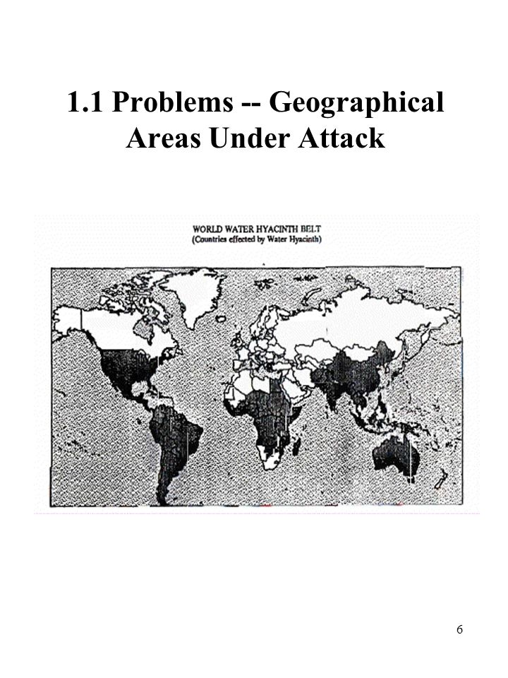 6 1.1 Problems -- Geographical Areas Under Attack