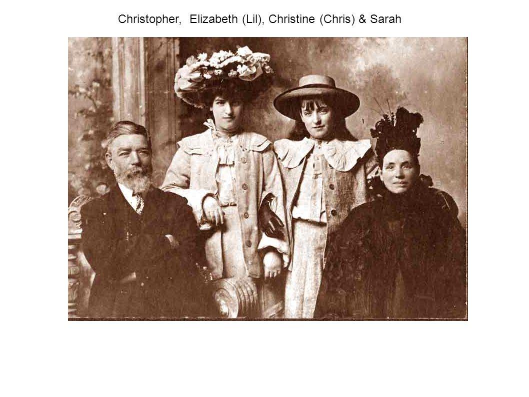 Christopher, Elizabeth (Lil), Christine (Chris) & Sarah