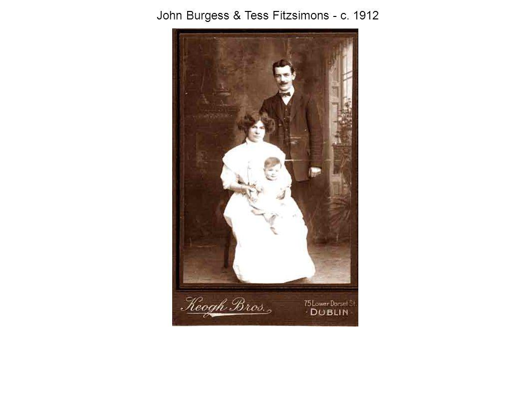 John Burgess & Tess Fitzsimons - c. 1912