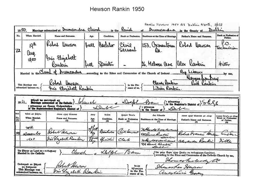 Hewson Rankin 1950