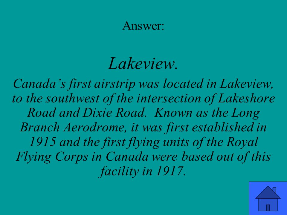 Answer: Lakeview.