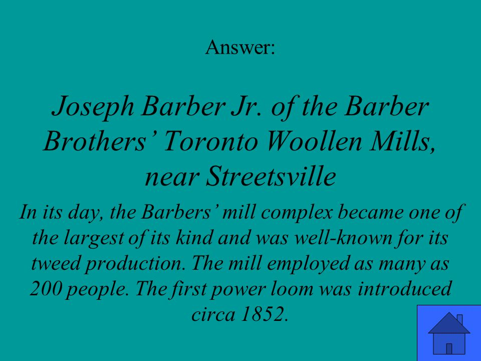 Answer: Joseph Barber Jr.