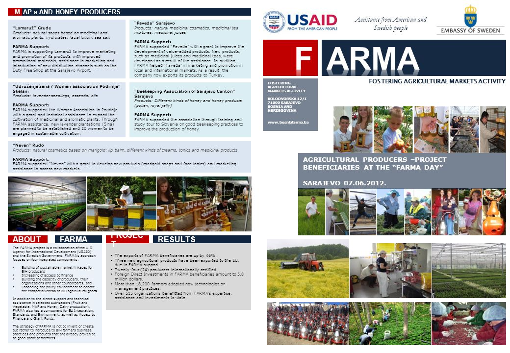 The FARMA project is a collaboration of the U.S.