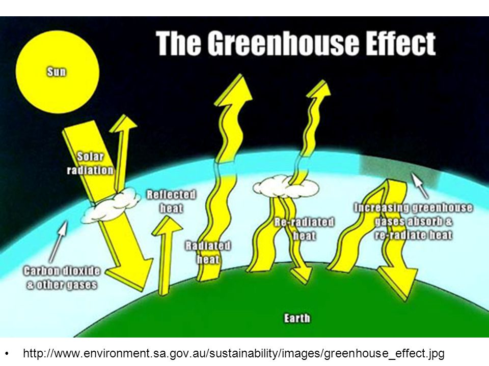 Enhanced Greenhouse Effect http://www.environment.sa.gov.au/sustainability/images/greenhouse_effect.jpg