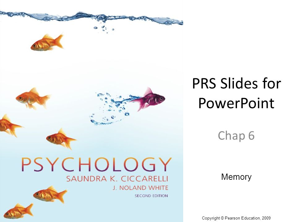 PRS Slides for PowerPoint Chap 6 Memory Copyright © Pearson Education, 2009
