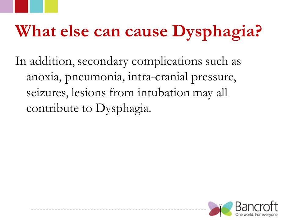 What else can cause Dysphagia.