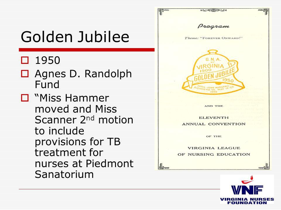 Golden Jubilee  1950  Agnes D.