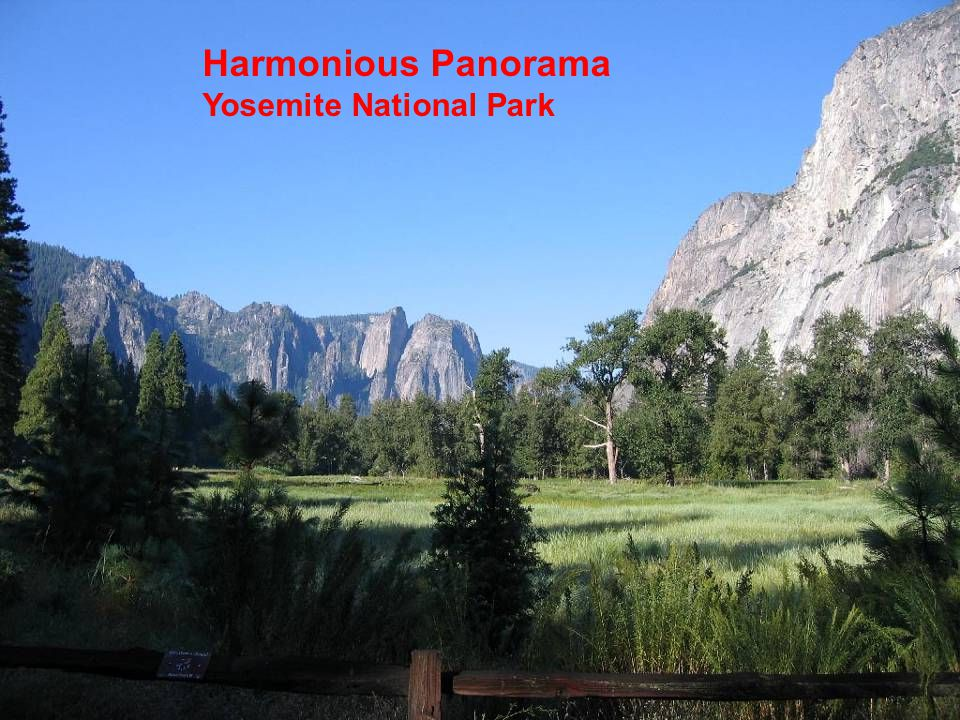 Harmonious Panorama Yosemite National Park