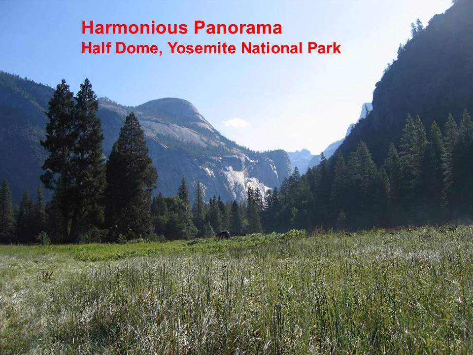 Harmonious Panorama Half Dome, Yosemite National Park