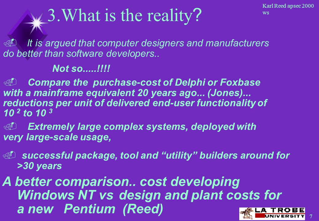 8 Karl Reed apsec 2000 ws 3.What is the reality .