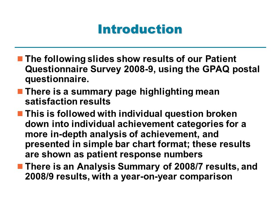 2007/8 Analysis Summary
