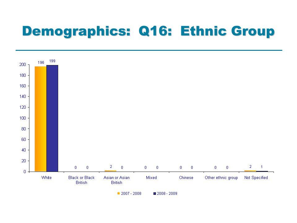 Demographics: Q16: Ethnic Group