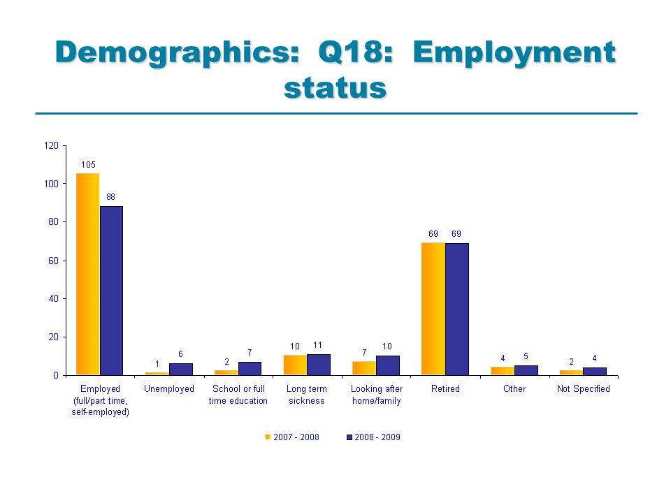 Demographics: Q18: Employment status