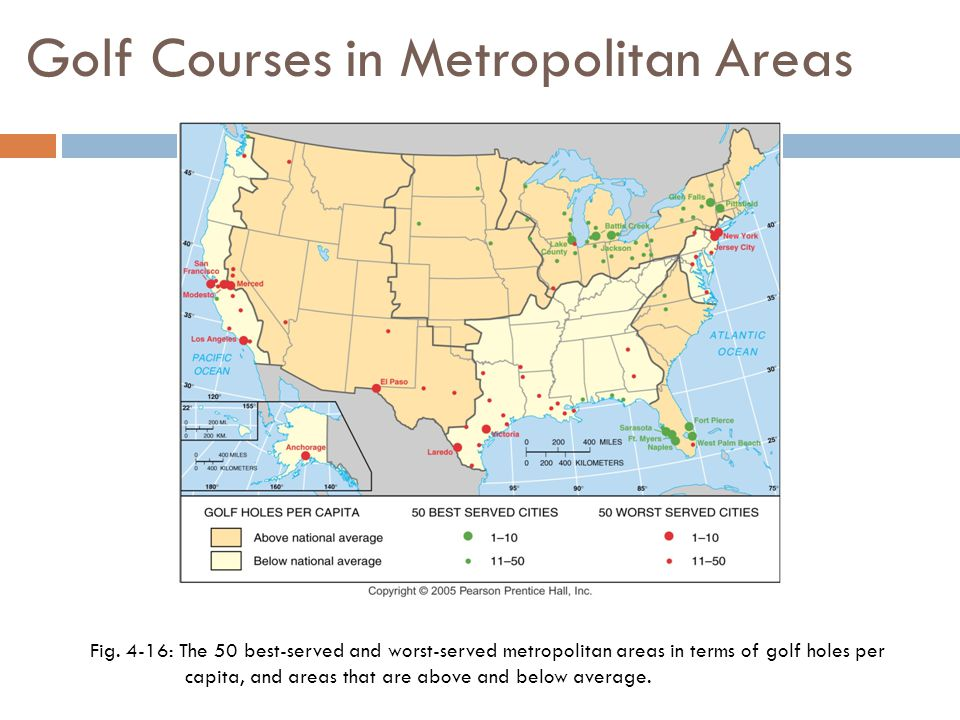 Golf Courses in Metropolitan Areas Fig.